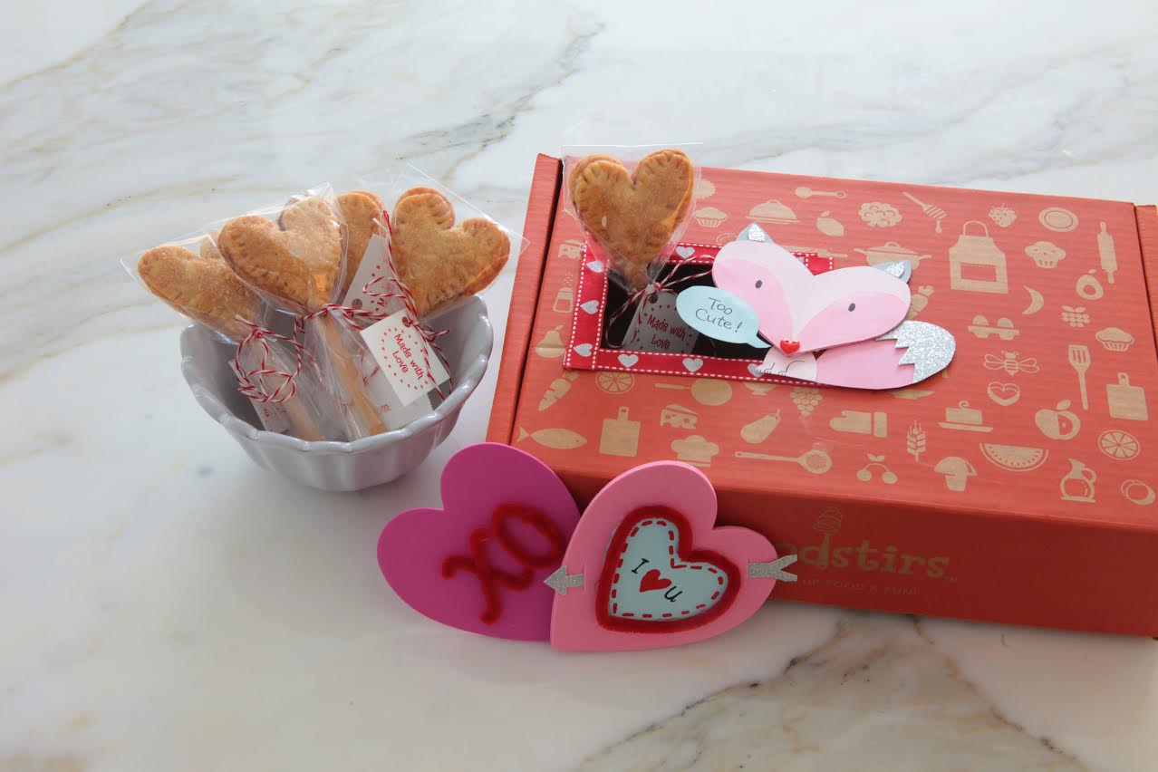 Heart to heart: The Valentine's Day–themed kit from Foodstirs.