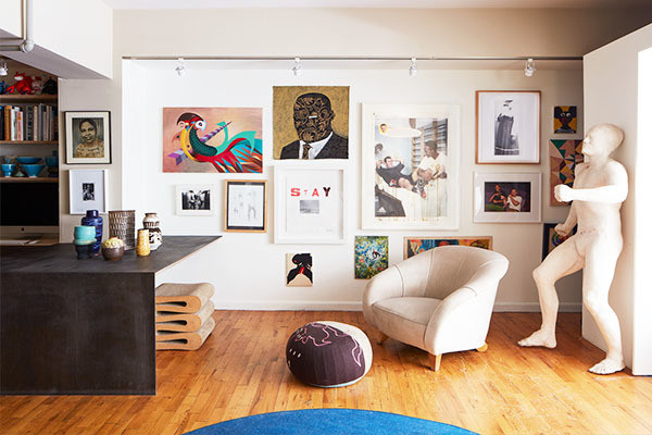 This 800 Square Foot Brooklyn Loft Feels More Like A Gallery Lonny