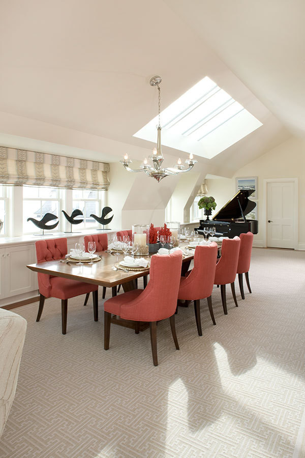 The dining room in Ocean House's Penthouse Suite.