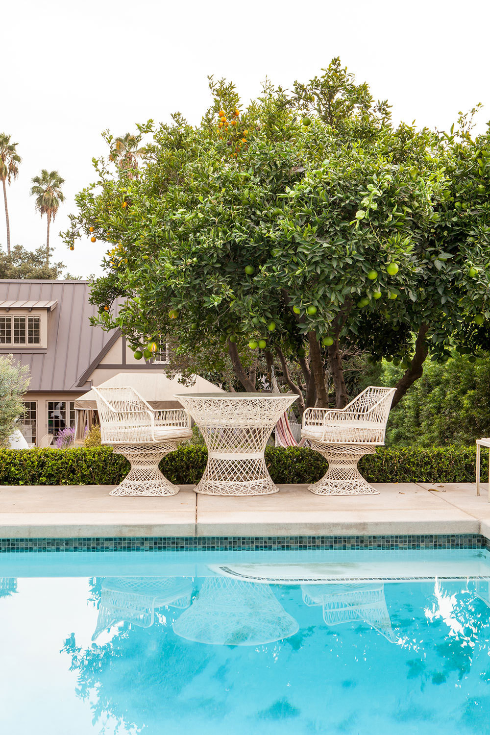 It wouldn't be a California home without a covetable pool area, which was added to the property during the second phase of renovations.