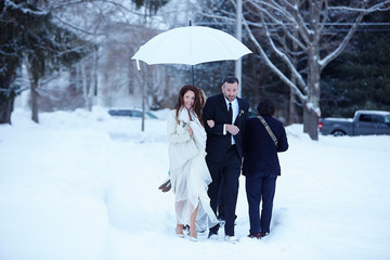 A Winter Wedding in the Country