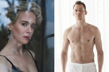 Sarah Paulson, Tom Hiddleston Go Bare for 'W' Magazine Photoshoot