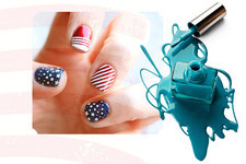 Patriotic Nails for the Fourth of July