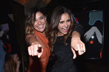 Nina Dobrev and Jessica Szohr Like to Party
