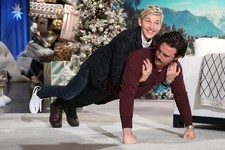 Milo Ventimiglia Doing Push-Ups with Ellen DeGeneres on His Back Will Brighten Your Day