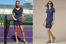Found: Hannah Davis' Polo Shirt Dress