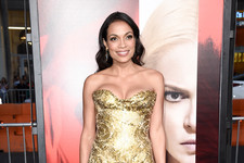 Look of the Day: Rosario Dawson's Golden Glamour