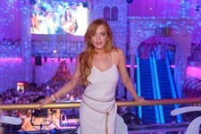 Lindsay Lohan Strikes a Pose in Austria
