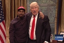 'SNL' Nailed A Spoof Of Trump And Kanye's Oval Office Meeting
