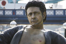 Good Job, World: There's A 25-Foot Semi-Naked Jeff Goldblum Statue Chilling In London