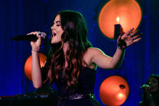 Lucy Hale Belts It Out